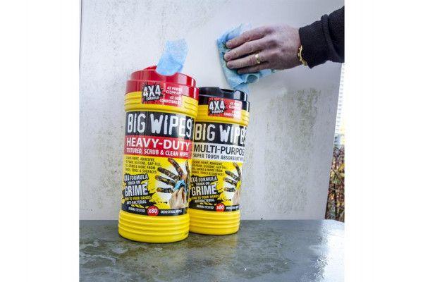 Big Wipes 4x4 Heavy-Duty Cleaning Wipes Tub of 80