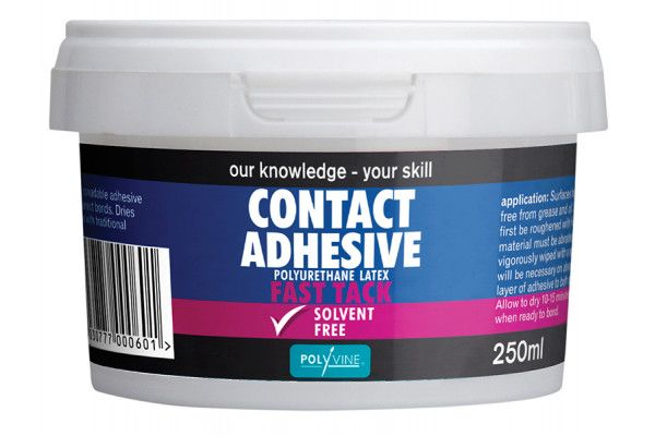 Polyvine Contact Adhesive Solvent Free Fast Tack 250ml