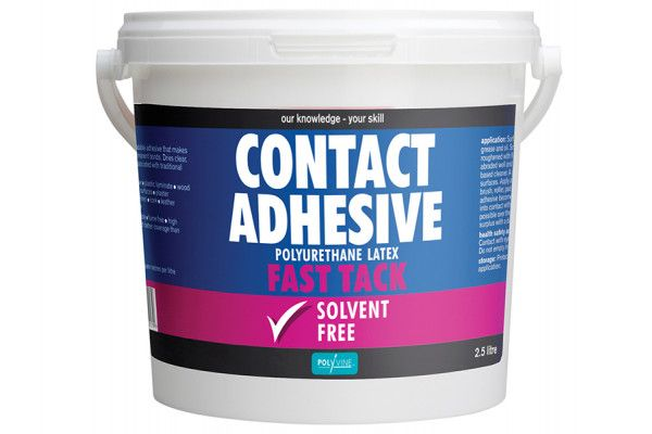 Polyvine Contact Adhesive Solvent Free Fast Tack 2.5 Litre