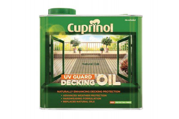 Cuprinol UV Guard Decking Oil Natural Oak 2.5 Litre