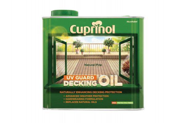 Cuprinol UV Guard Decking Oil Natural Pine 2.5 Litre