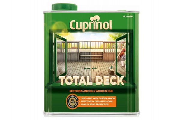 Cuprinol Total Deck Restore & Oil Wood Clear 2.5 Litre