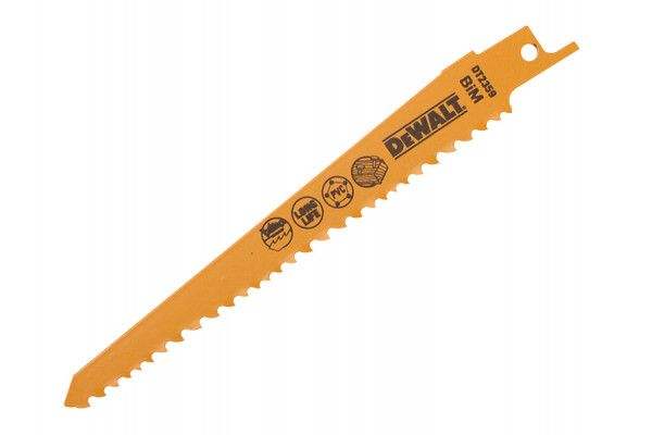DEWALT Sabre Blade Fast Cuts Wood with Nails Plastics 152mm Pack of 5