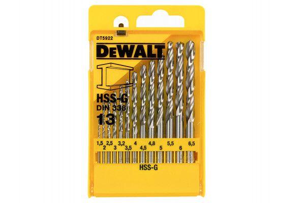 DEWALT HSS G Jobber Drill Bit Set 13 Piece