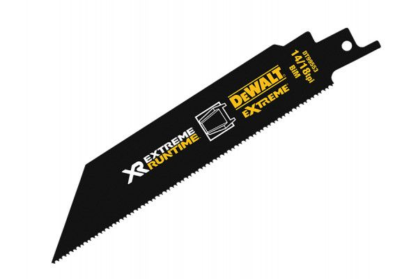 DEWALT FlexVolt XR Metal Reciprocating Blades 152mm 14/18 TPI Pack of 5