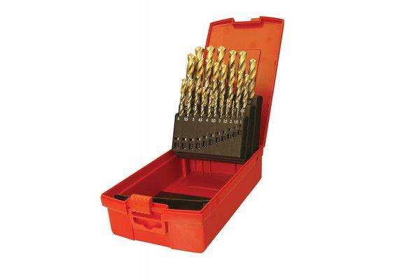 Dormer A095 Set 201 A002 HSS TiN Coated Jobber Drill Set of 19 1.0-10.0 x 0.5mm