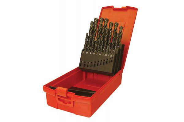 Dormer A190 No.201 Metric HSS Drill Set of 19 1.0-10.0 x 0.5mm