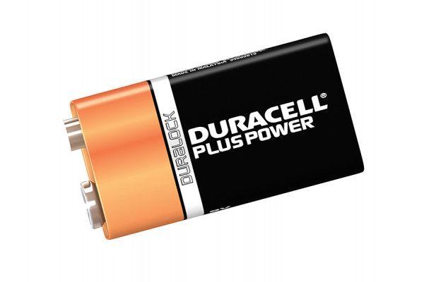 Duracell 9V Cell Plus Power Battery Pack of 1 MN1604/6LR6
