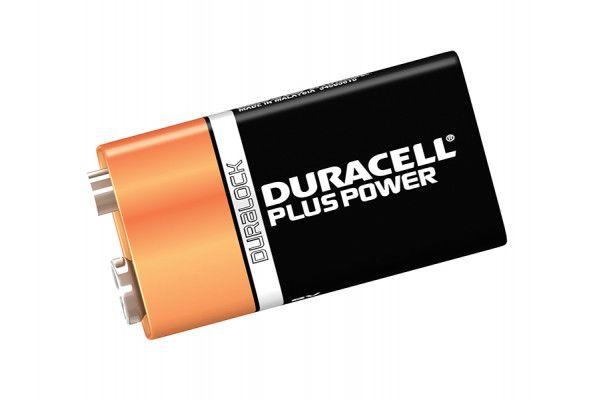 Duracell 9V Cell Plus Power Battery Pack of 2 MN1604/6LR6