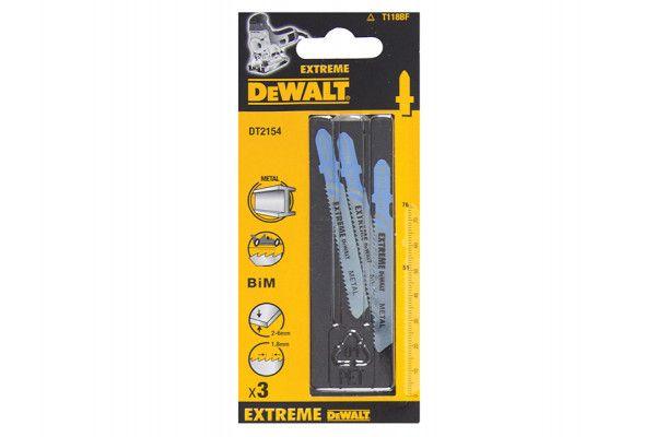 DEWALT DT2154 EXTREME Metal Cutting Jigsaw Blades Pack of 3
