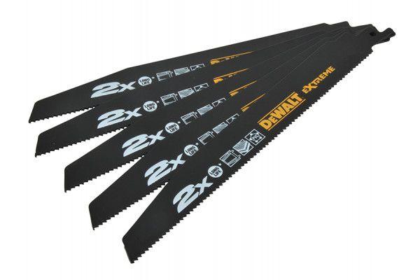 DEWALT 2X Life General Purpose Reciprocating Blades 152mm Pack of 5