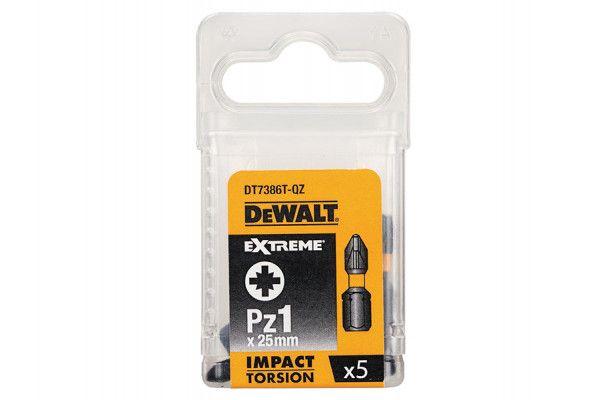 DEWALT Impact Torsion Bits PZ1 25mm Pack of 5