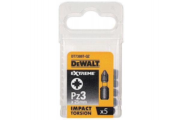DEWALT Impact Torsion Bits PZ3 25mm Pack of 5