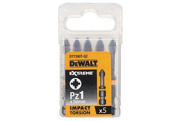 DEWALT Impact Torsion Bits PZ1 50mm Pack of 5