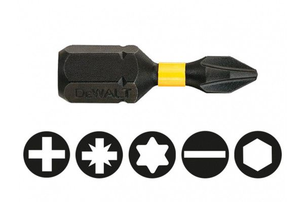 DEWALT Impact Torsion Bits PH1 25mm Pack of 5