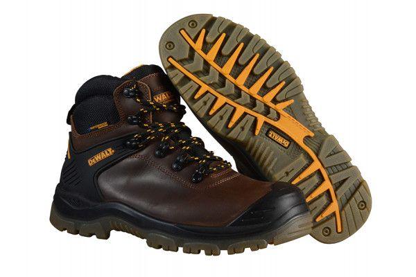 DEWALT Newark S3 Waterproof Safety Hiker Brown Boots UK 7 Euro 41