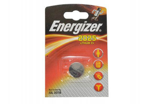 Energizer CR2025 Coin Lithium Battery Single