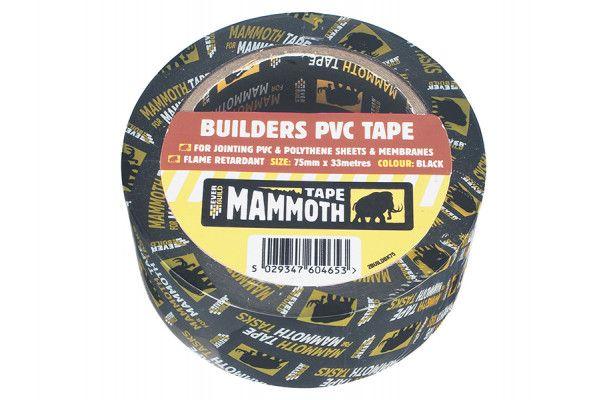 Everbuild Builder's PVC Tape Black 50mm x 33m