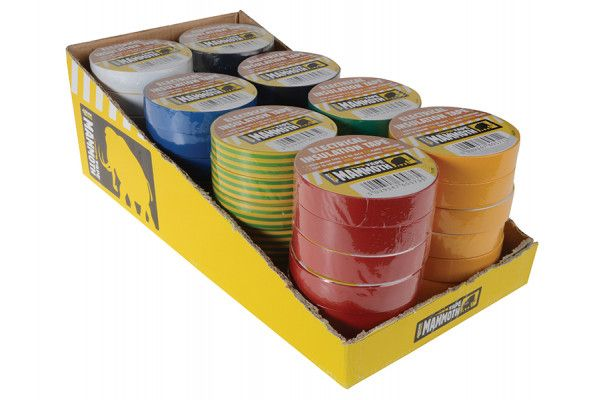 Everbuild Electrical Insulation Tape 19mm x 33M Display of 48pc Assorted Colours