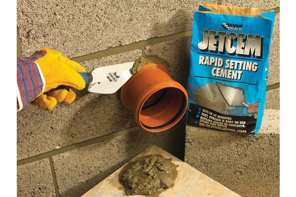 Everbuild Jetcem Rapid Set Cement 12kg (2 x 6kg Pack)