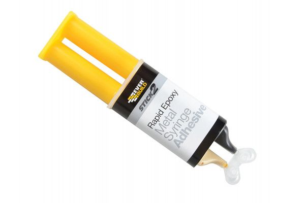Everbuild Stick 2 Rapid Epoxy Metal Syringe 24ml