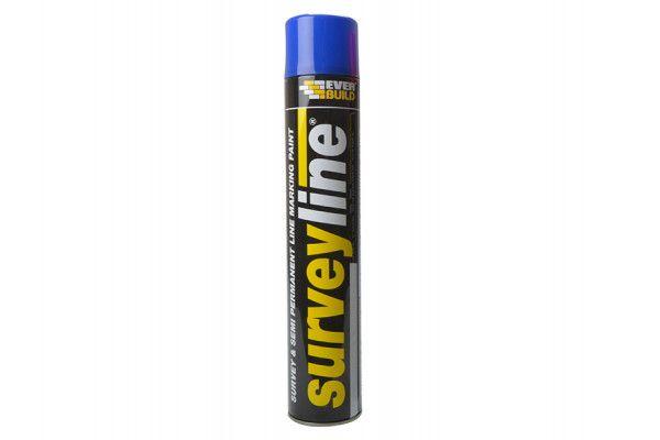Everbuild Surveyline Marker Spray Blue 700ml