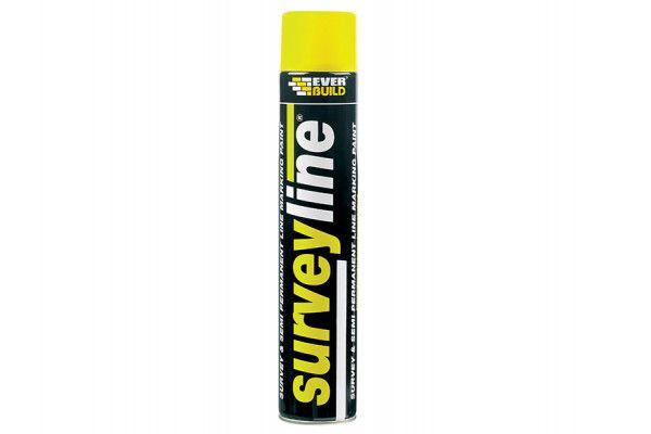 Everbuild Surveyline Marker Spray Yellow 700ml