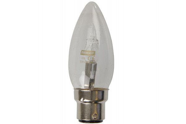 Energizer Lighting Candle Halogen 33 Watt (40 Watt) BC/B22 Bayonet Cap Card of 2