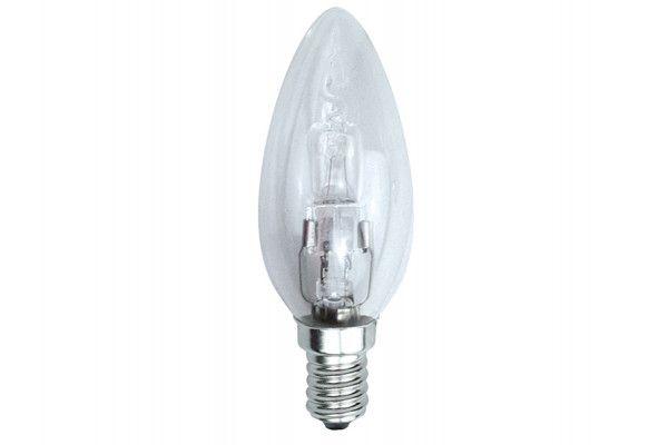 Energizer Lighting Candle Halogen 48 Watt (60 Watt) SES/E14 Small Edison Screw Box of 1