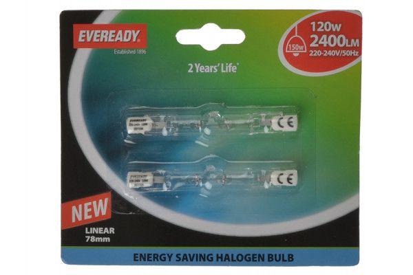 Energizer Lighting 78mm Linear Halogen Bulb 240v 120 Watt (150 Watt) Card of 2