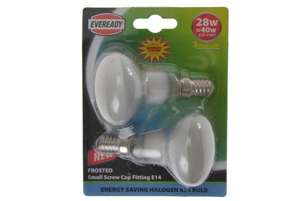 Energizer Lighting R50 Halogen Reflector Lamp 33 Watt (40 Watt) SES/E14 Card of 2