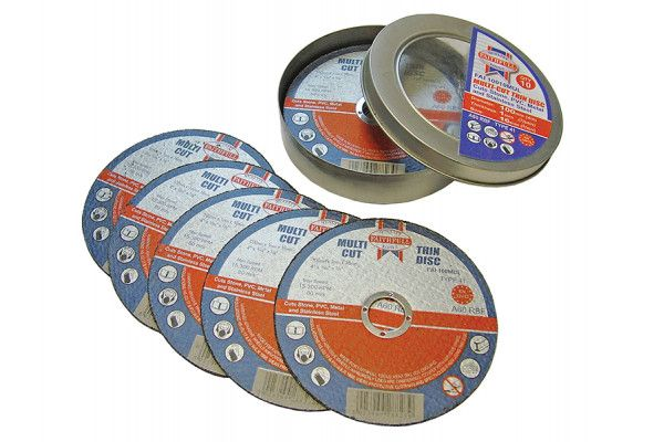 Faithfull Multi-Cut Cutting Discs 100 x 1.0 x 16mm (Pack of 10)