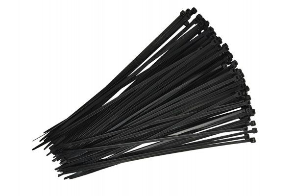 Faithfull Cable Ties Black 300mm x 4.8mm Pack of 100