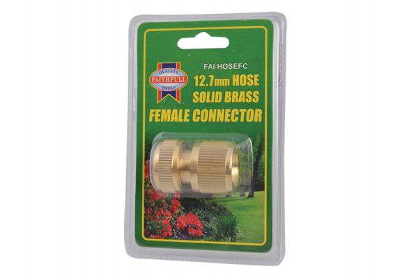 Faithfull Brass Female Hose Connector 12.5mm (1/2in)