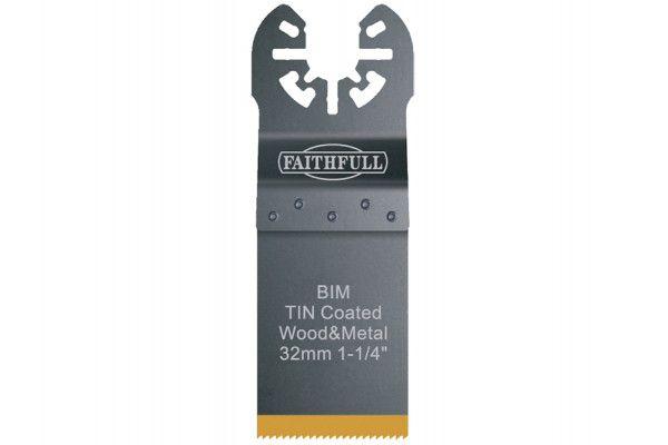Faithfull Multi-Functional Tool Bi-Metal Flush Cut TiN Coated Blade 32mm
