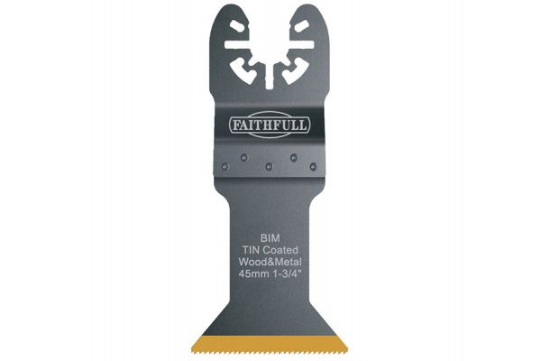 Faithfull Multi-Functional Tool Bi-Metal Flush Cut TiN Coated Blade 45mm