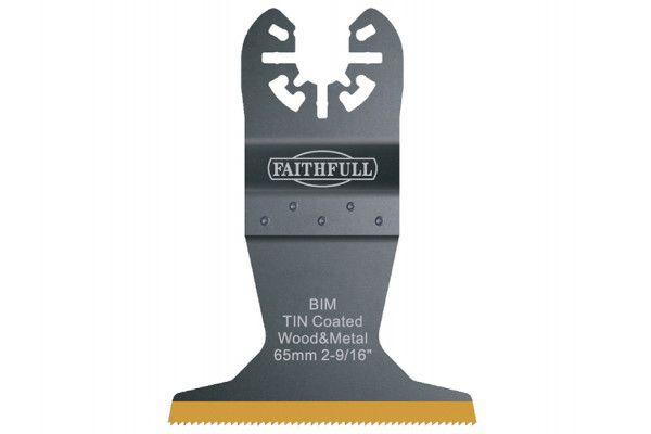 Faithfull Multi-Functional Tool Bi-Metal Flush Cut TiN Coated Blade 65mm