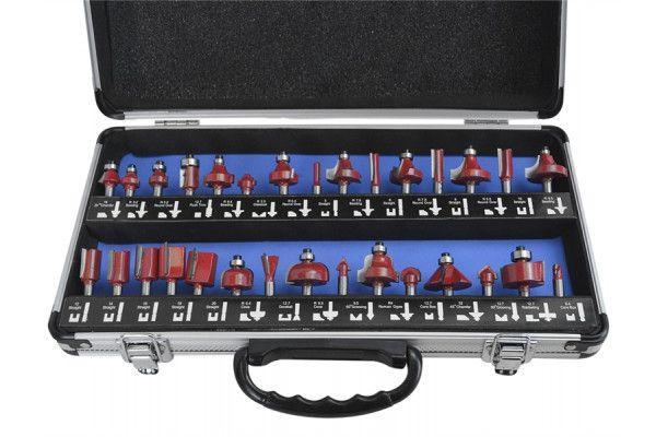 Faithfull Router Bit Set of 30 TCT 1/4in Shank
