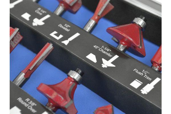 Faithfull Router Bit Set of 35 TCT 1/2in Shank