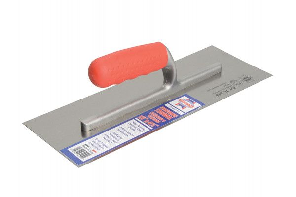Faithfull Plasterers Carbon Finishing Trowel Soft Grip Handle 13 x 4.3/4in