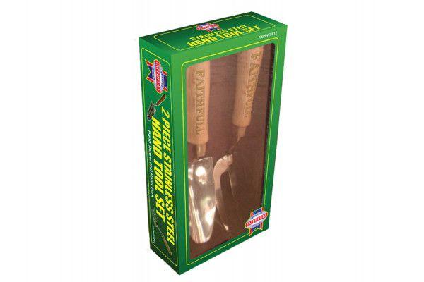 Faithfull Stainless Steel Hand Tool Set of 2 in Cardboard Box