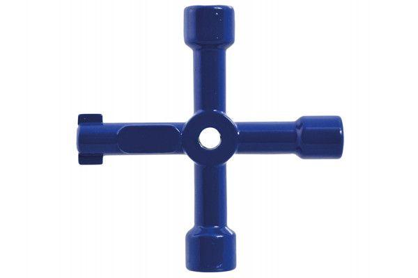 Faithfull 4-Way Services Utility Meter Key