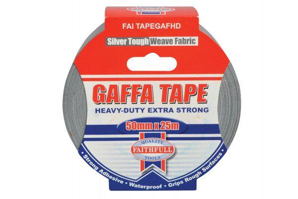Faithfull Heavy-Duty Gaffa Tape 50mm x 25m Silver