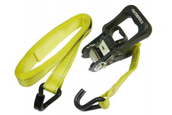 Faithfull Ratchet Tie-Downs J Hook 5m x 32mm Breaking Strain 1320kg/daN 2 Piece