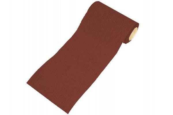 Faithfull Aluminium Oxide Sanding Paper Roll Red Heavy-Duty 115mm x 10m 120g