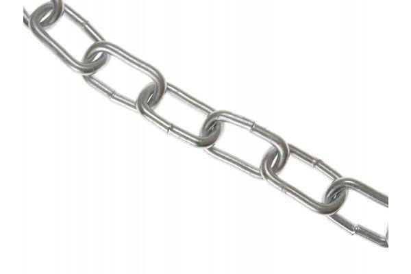 Faithfull Zinc Plated Chain 5mm x 10m Box - Max Load 160kg
