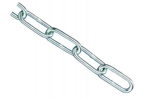 Faithfull Zinc Plated Chain 2.5mm x 2.5m - Max Load 50kg