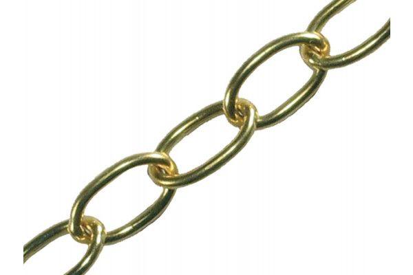 Faithfull Oval Chain 1.8mm x 10m Polished Brass