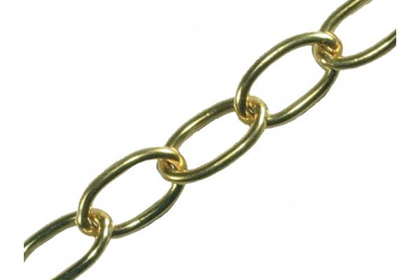 Faithfull Oval Chain 2.3mm x 10m Polished Brass