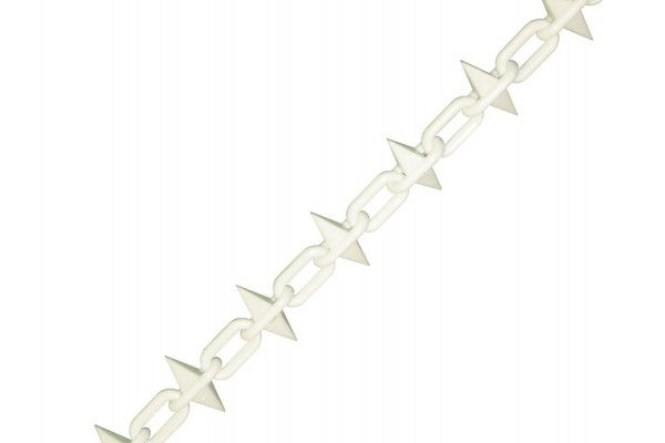 Faithfull Plastic Chain 6mm x 12.5m White Spiked